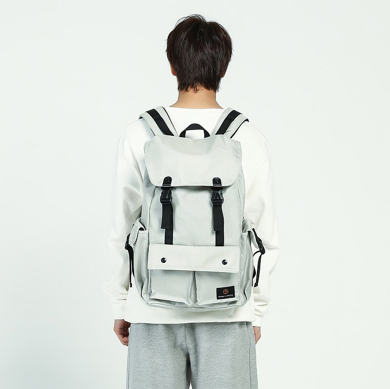 The Dude Hong Kong brand casual sports big ropes back pack Predator - silver grey