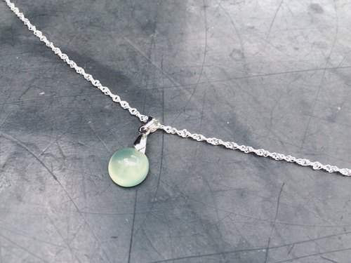 (Ofelia.) Natural stone series. Natural grape stone sterling silver necklace (only one) (J120.Pan)