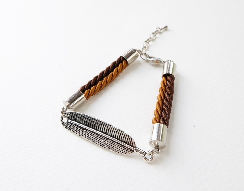 ♥ ELBRAZA ♥ Leaf brown bracelet