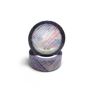 Iridescent series paper tape - rainbow line