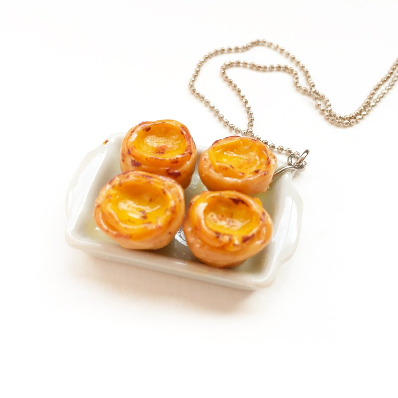 egg tart Necklace