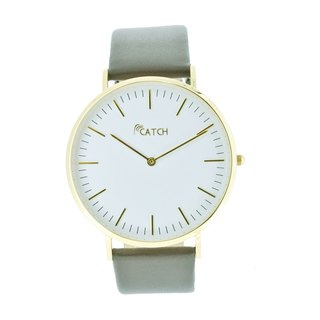 Simple stainless steel gold watch