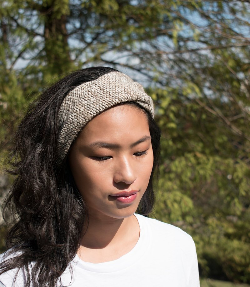 Beige Headband for men and women