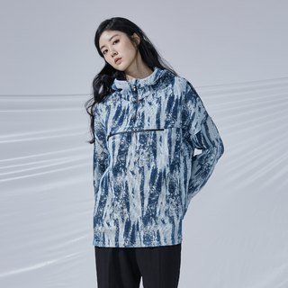 DYCTEAM - Brush Pattern Jacquard Anorak 丹寧筆刷緹花衝鋒衣