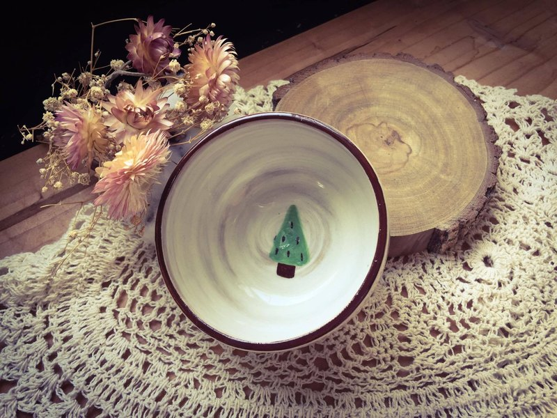 + Christmas limited + warm Christmas tree hand bowls