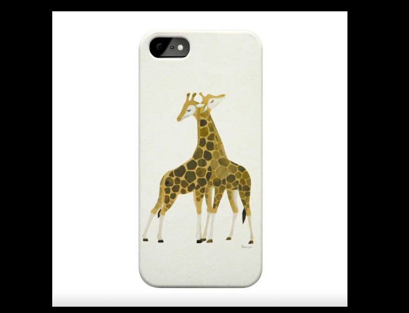 A pair of giraffes exclusive high-quality scratch-proof and drop-proof card models APPLE full series of Samsung NOTE and S series