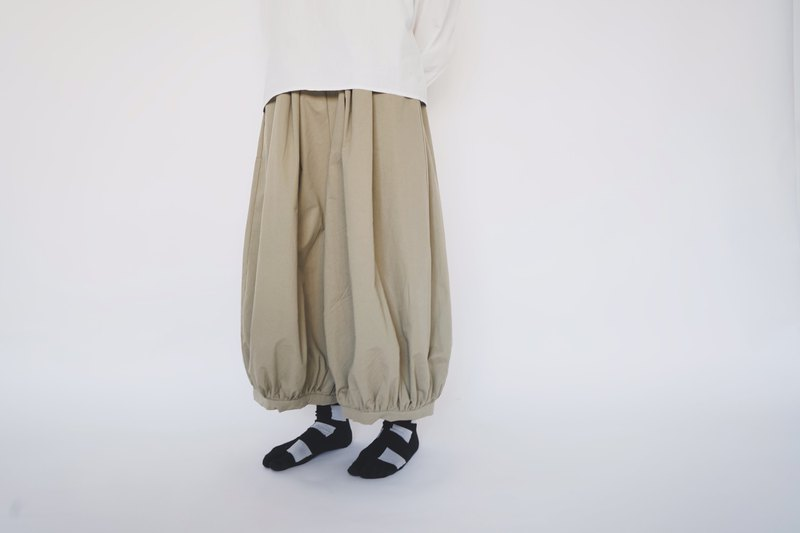Lantern pants - khaki green