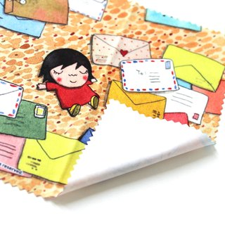 【Give yourself a letter】 mud illustration glasses cloth