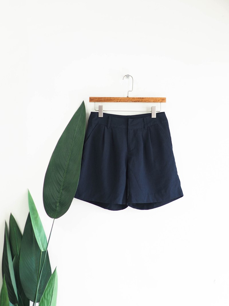 Sea black blue plain classic love cool summer antique soft cloth low waist wide shorts pants vintage