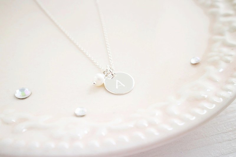 Letter Necklace Special Treasure Pearl Freshwater Pearl 925 Sterling Silver Necklace Valentine's Day Gift