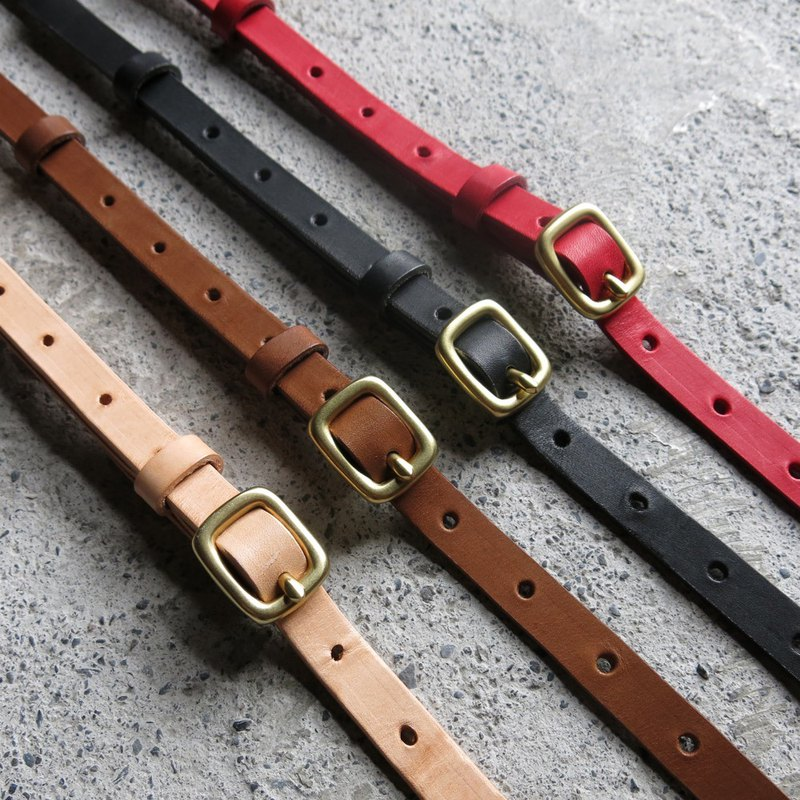 1.5cm wide vegetable tanned leather strap four colors can be selected [LBT Pro]