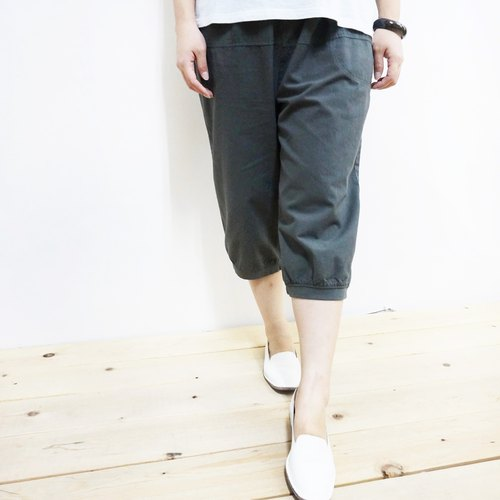 【Qi Wu 8x MIT】 cotton leisure 6 pants (gray)