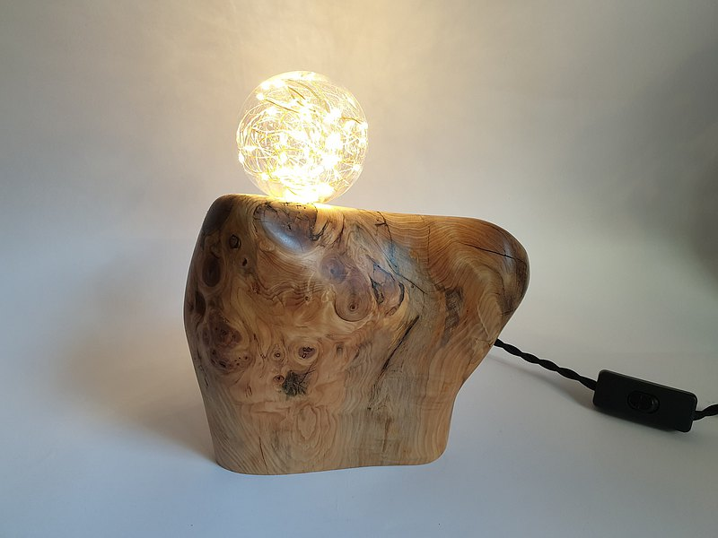 [Mother's Day gift] design old cypress lamp art lighting night lamp table lamp natural solid wood lamp