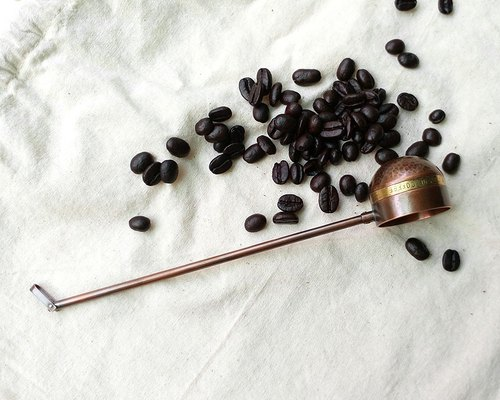 Scoop a spoonful of early morning incense -1 copper coffee spoon / Ag No. 030