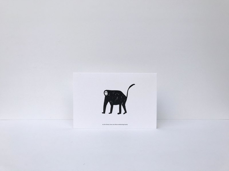 Monkey | Forest Can Card (with envelope)