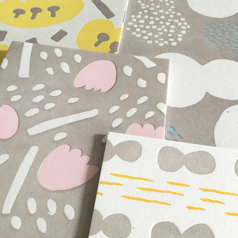 Moshimoshi | Letterpress Postcard Set (four in)