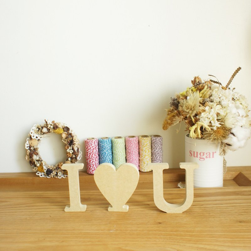 Wooden alphabet home decorations wedding decoration wedding photography props i love you