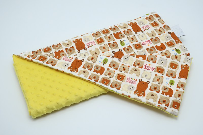Hush Baby Handmade Receiving Blanket (Bear+Yellow)