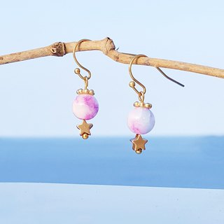 Summer Xinghai Party - Haishu Persian Jade Brass Earrings Minimalist Geometry Cute Music Sacrifice