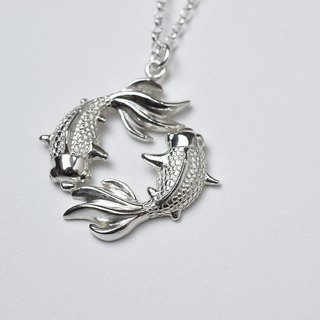 The goldfish is more than a year (stylized silver necklace and silver new year gift) ::C% handmade jewelry::