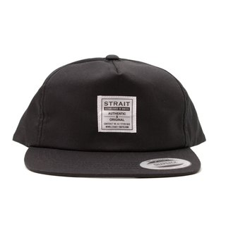 TAG 5PANEL SNAPBACK CAP #BLACK