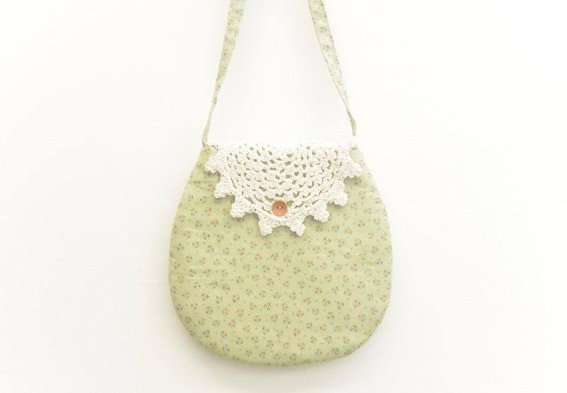Lace backpack - green floral (children's section)