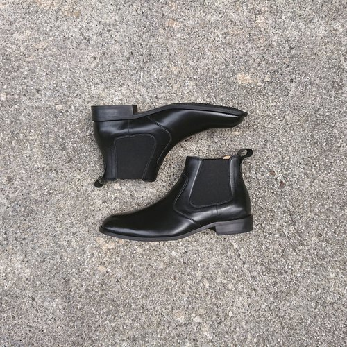 Chelsea boots black riding boots men's boots leather