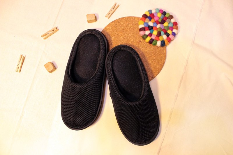 AC RABBIT function indoor air cushion slippers - all-inclusive - black comfortable decompression original / sp-1208T-Mbk