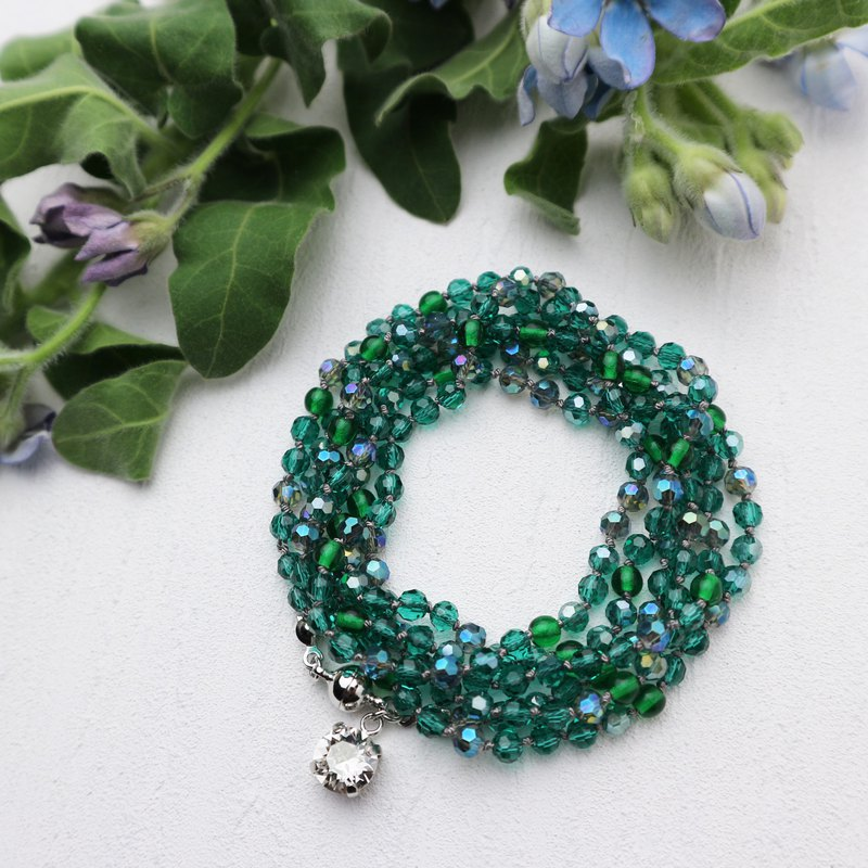 Wrap Bracelet (Green Mix)