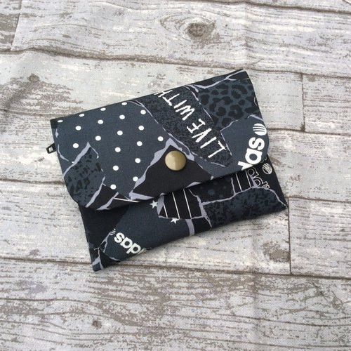 Face Paper Bag Card Pack Coin Purse Teared Map