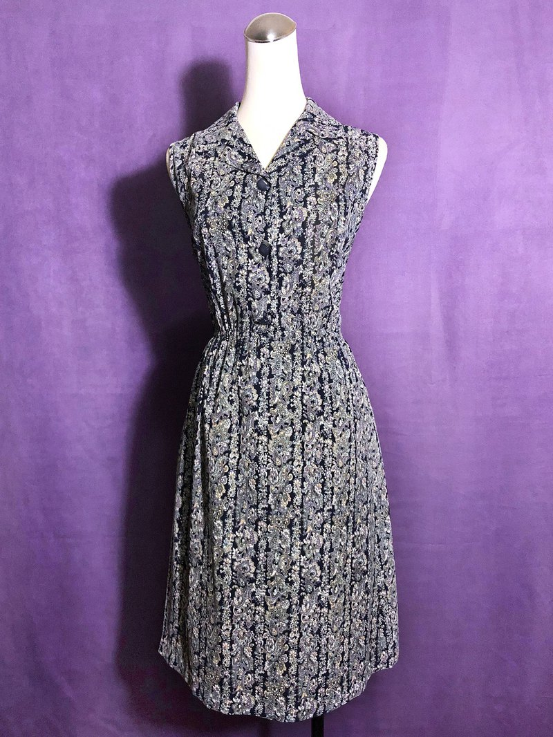 Totem chiffon sleeveless vintage dress / abroad brought back VINTAGE