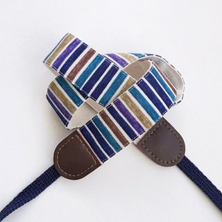 Blue stripe camera strap