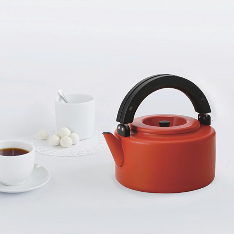 CB Japan Nordic Series Double Tea Pot - Warm Red