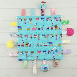 Circus animals are available in -9 models. Cotton ball X cotton cloth label paper comforting towel (free embroidered name)