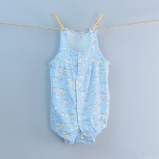 Double yarn bag fart clothing - wash the cat (blue) Hand made non-toxic yukata very flat baby