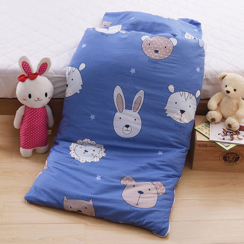Made in Taiwan|Pure Cotton|Winter/Summer|Shop Cotton|Dual-use Children's Sleeping Bag|Tongmeng Family