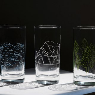 1983ER Glass 400ml Wave/Iceberg/Forest