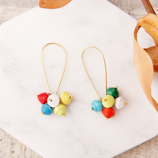 MUSEV colorful beads beads beads earrings