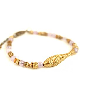 [Na UNA- excellent hand-made] carp brass bracelets customized natural stones