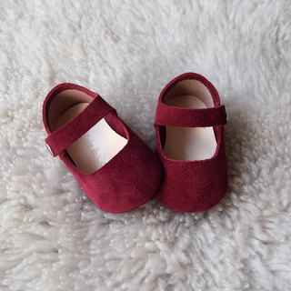 Burgundy Suede Baby Mary Jane, T-Strap Leather Mary Jane, Baby Girl Shoes