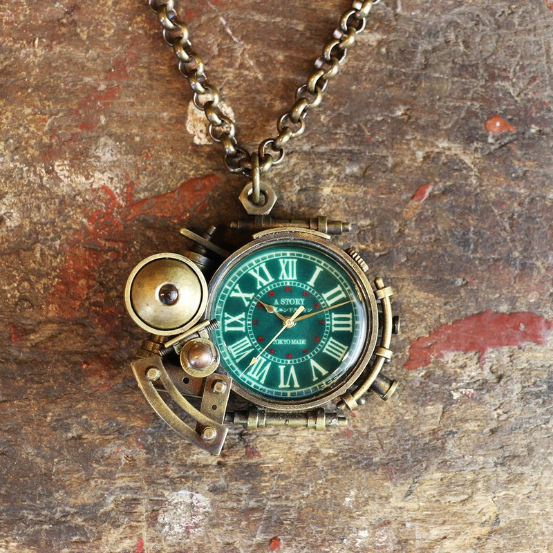 [One point] Steam punk pendant watch Electric endorphin x A STORY light accumulating dial