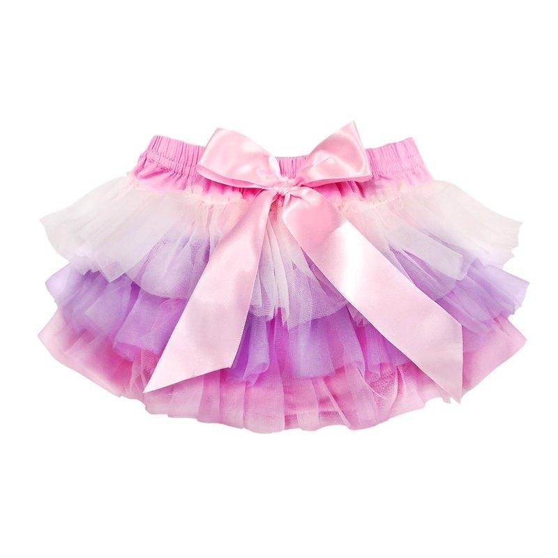 Cutie Bella 雪紡蝴蝶結蓬蓬褲裙 澎澎裙屁屁褲 Cream Lilac Pink