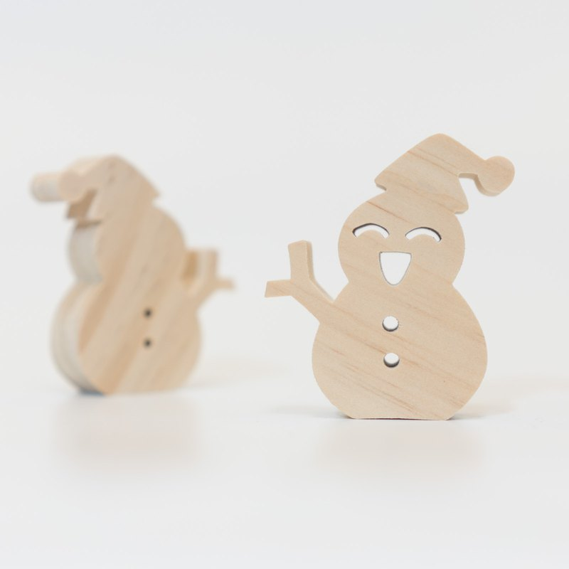 wagaZOO thick cut modeling building blocks natural series - little snowman