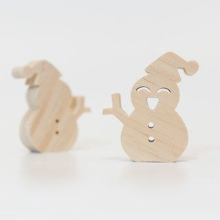 wagaZOO thick cut shape building blocks natural series - little snowman