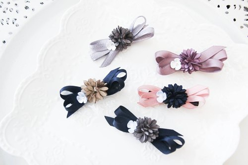 Line waltzing small bangs clip handmade limited edition
