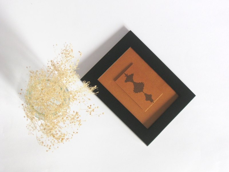 Small Framed Print - I Love You Soundwave Art, Black and Bronze Mountain Reflection Landscape, Visible Voice Gift for him, - 3.5 x 5 inch, Small Things Great Love series, Bronze