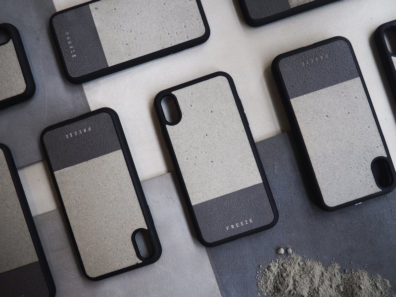 Cement mixed phone case
