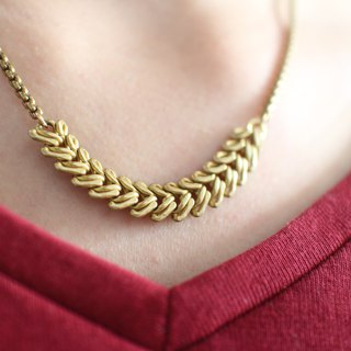 Autumn-Brass necklace
