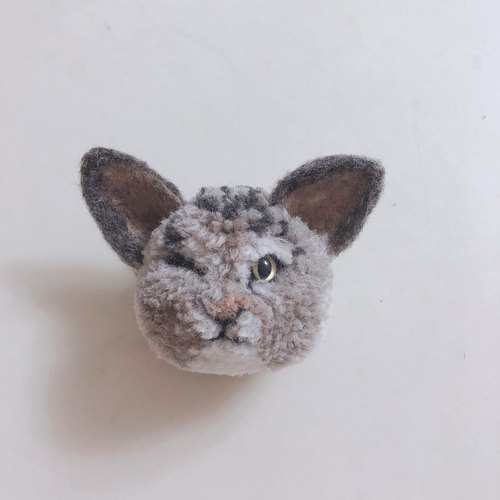 Pure handmade wool ball doll bag strap - fluffy flower cat
