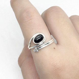 Black Star Stone 925 sterling silver exotic design ring Nepal handmade mosaic production (Figure 3)